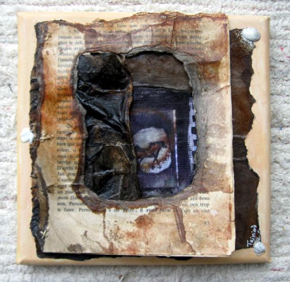 TABLEAU PEINTURE Animaux Collage  - Altaïr