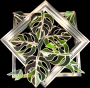 ceramique verre paysages technique tiffany : Foliage