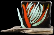 ceramique verre abstrait technique fusing : Outside of Frame