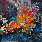 tableau abstrait emotions nature riviere amour : riviére 3