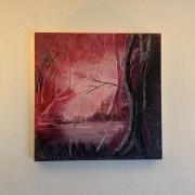 tableau abstrait : Rosé