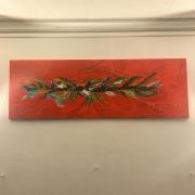 tableau abstrait abstrait rouge : Imagination
