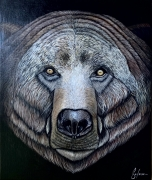 tableau animaux animaux nature americain ours : Grizzly
