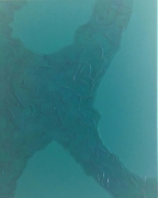 tableau abstrait vert turquoise caraibes mer structure abstrait : Caraïbes
