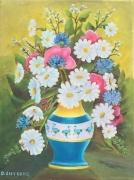 tableau fleurs fleurs vase : Bouquet fleural