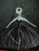 tableau autres danseuse expressionnisme collage fantome : La danseuse