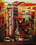 painting villes portugal ville voiture immeuble : Lisbon (n°2)