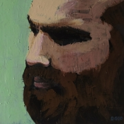 tableau personnages homme barbe front rugby : Portrait d'Homme n°2