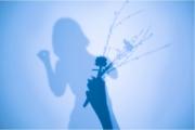 photo abstrait autoportrait surrealisme surimpression nature : Ma vie en bleu
