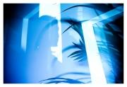 photo autoportrait surrealisme surimpression nature : Ma vie en bleu