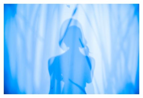 PHOTO autoportrait surréalisme surimpression nature Abstrait  - Ma vie en bleu