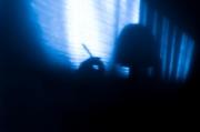 photo abstrait autoportrait surrealisme surimpression lumiere : Ma vie en bleu