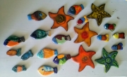 artisanat dart marine poissons ceramiques pieces uniques mosaique decorationmarine : vendu