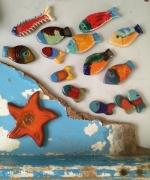 artisanat dart marine poissons ceramiques pieces uniques mosaique decorationmarine : ensemble n°607 141526 2