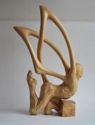 sculpture personnages sculpture papillon homme envol : envol
