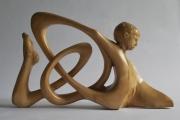sculpture : homme boucle