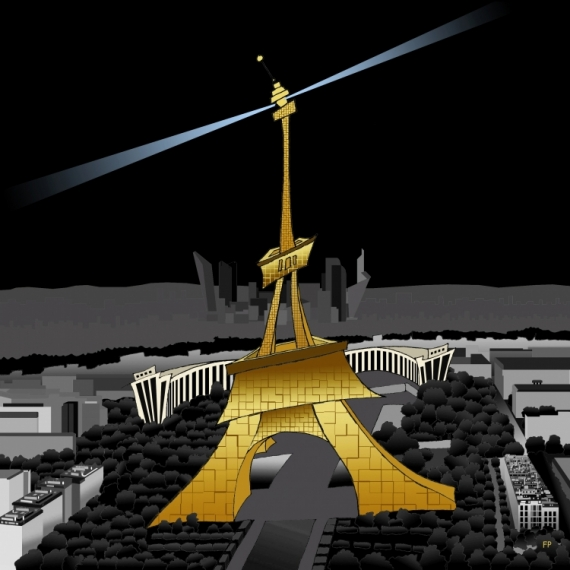 ART NUMéRIQUE Paris Tour Eiffel Architecture  - La TOUR EIFFEL