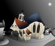 art numerique architecture eglise : Eglise Sainte Mâcre