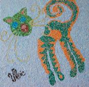 tableau animaux chat animaux felin felix : Félix le Chat (Mosaïque)