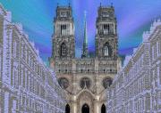 tableau architecture cathedrale religion catholique orleans : Cathédrale Sainte-Croix d'Orléans