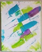 tableau abstrait esprit abstrait froide vert : Esprit