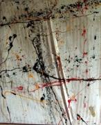 tableau abstrait abstrait : Un berlin air sous le matelas