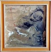 tableau abstrait pouring espace abstrait : P doré