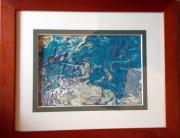 tableau abstrait pouring espace abstrait : P marin