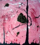 tableau abstrait abstrait arbre : Arbre à thé