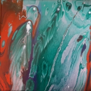 tableau abstrait abstrait espace pouring : P chloro