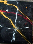 tableau abstrait abstrait : Un berlin air noir1