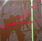 tableau abstrait abstrait chocolat gourmandise : Gourmandise
