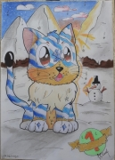 dessin personnages fantastique imaginaire polaire dessin enfantin : Rayures Polaires