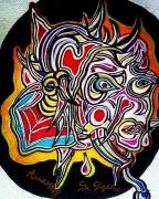 dessin abstrait surrealisme psychedelique art abstrait couleurs : La Diseuse de Bons Dires