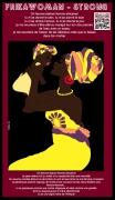 ceramique verre personnages beaute africaine amazone black live matter portrait : FRIKAWOMAN STRONG