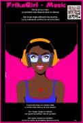 ceramique verre personnages beaute africaine amazone black live matter portrait : FRIKAGIRL MUSIC