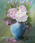 tableau fleurs : N O I A