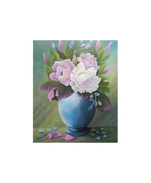 TABLEAU PEINTURE Fleurs Acrylique  - N O I A