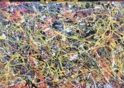 tableau abstrait pollock expressionnisme dripping abstrait : Camille