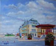 """tableau marine cayeux kiosque : CAYEUX/MER """" le kiosque """""""