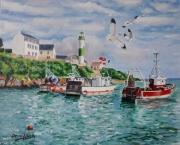 tableau marine doelan le port breton : LE PORT DE DOELAN