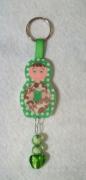 bijoux personnages porte cles bijou sac matriochka pois : Porte-clés matriochka poupée russe vert fleur coeur moderne coll