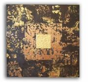 """tableau abstrait toile marron tableau marron moderne abstrait : tableau """" Copper """""""