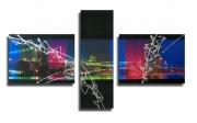 tableau villes tableau new york manhattan photo : Tableau triptyque toile design modern new york manhattan