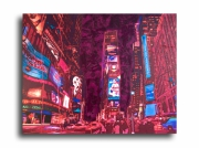 tableau villes times square new york bleu design : Tableau new york city times square design abstrait art