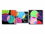 tableau abstrait tableau xxl colore moderne : Tableau XXL abstrait arc en ciel coloré bleu violet rouge jaune
