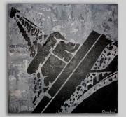tableau architecture tableau paris tour eiffel noir : Tableau Paris Noir et Blanc