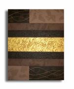 """tableau abstrait tableau marron moderne contemporain : tableau """" Eternity """" marron doré beige art moderne de"""