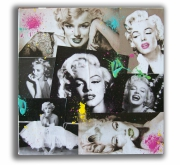 """tableau personnages marilyn monroe toile marilyn collage tableau moderne : Tableau """" Marilyn Fun """""""