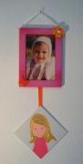 deco design personnages cadre photo cadre fille papillon : cadre photo rose mauve papillon décoration chambre enfant bébé f